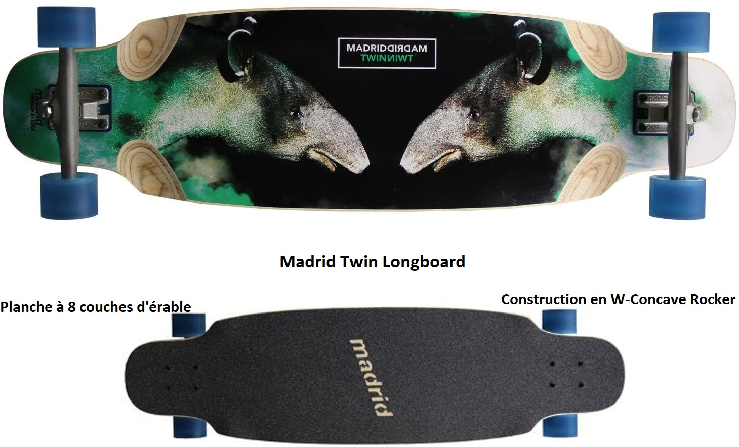 Longboard Madrid Twin