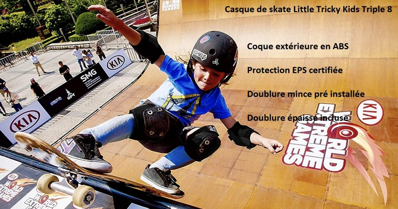 Casque de longboard Triple 8 Little Tricky Kids