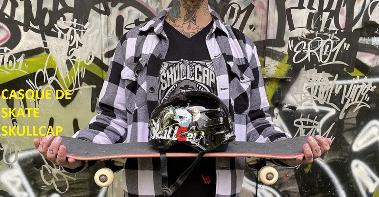 Casque de skate SkullCap motif Aigle