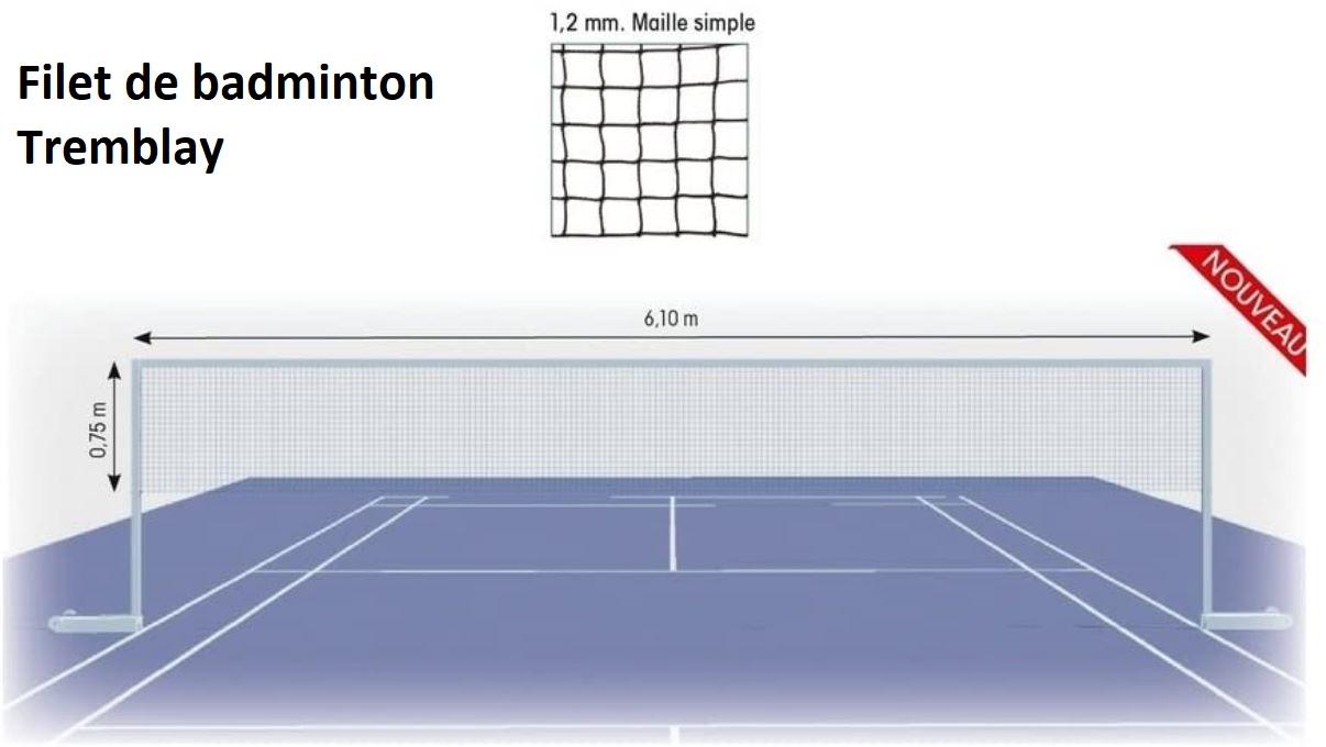 Filet de badminton Tremblay