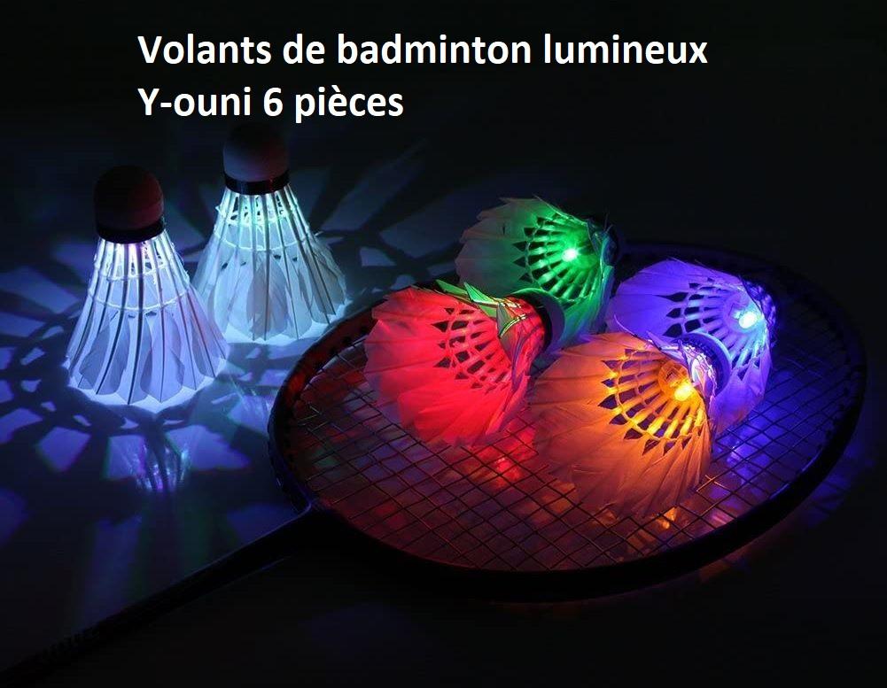 Volant de badminton Y-Ouni 6 pièces