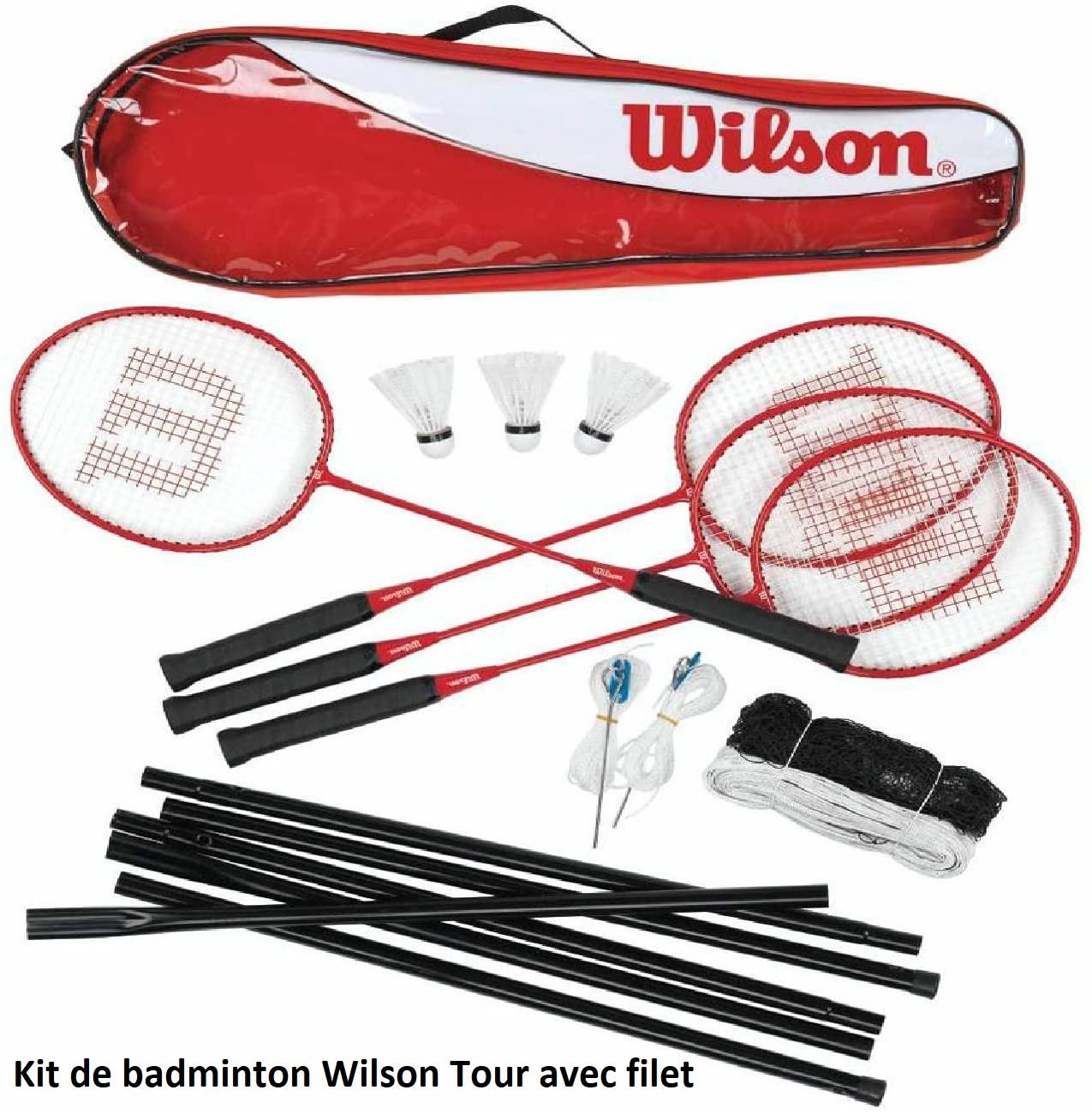 Kit de badminton Wilson avec filet